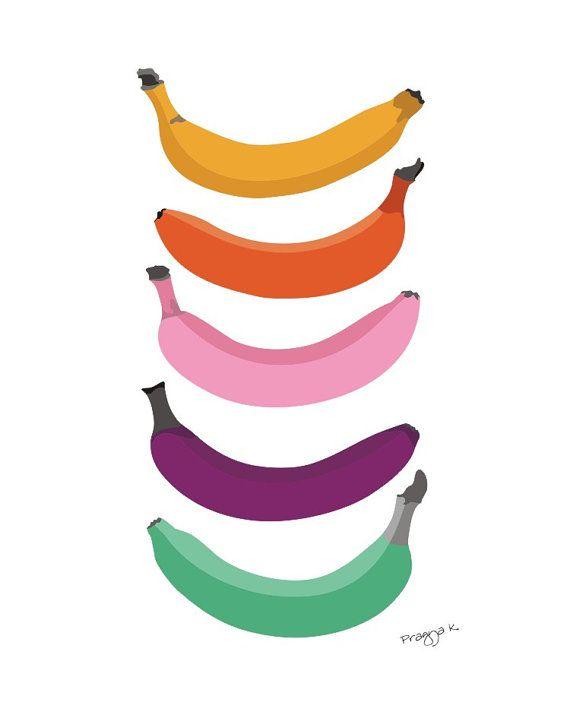 Banana clipart rainbow Bananas kitchen for PragyaK on