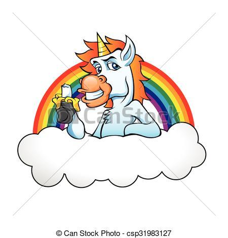 Banana clipart rainbow Rainbow cloud eating Cloud Eating