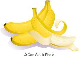 Banana clipart ripe Banana Art  bananas EPS