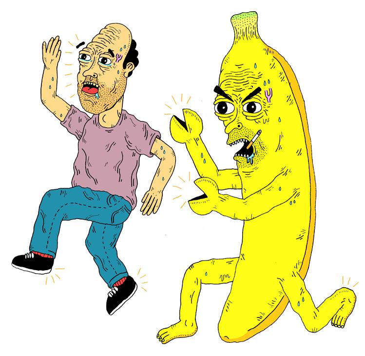 Scary clipart banana #3