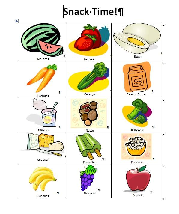 Banana clipart snacktime The Printable Woes  com