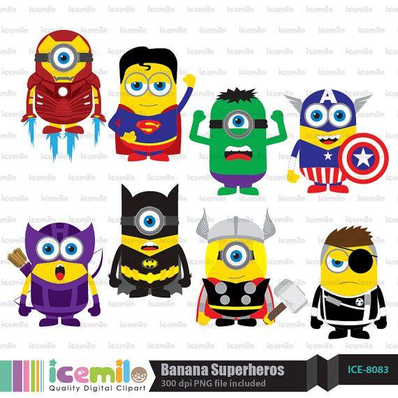 Banana clipart superhero  by on Pinterest Dibujos