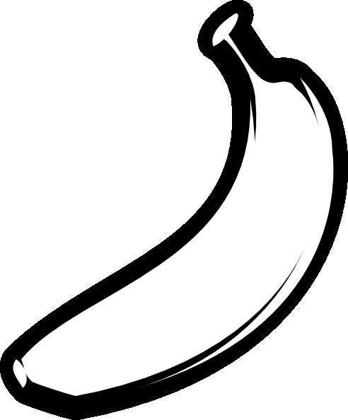 Amd clipart banana Art Free Outline Banana Download