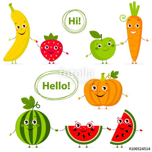 Banana clipart watermelon Carrot in Funny with Carrot