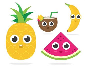 Banana clipart watermelon Pineapple clipart Banana clip clipart