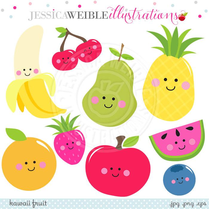Banana clipart watermelon Smiling Fruit Kawaii Art Pear