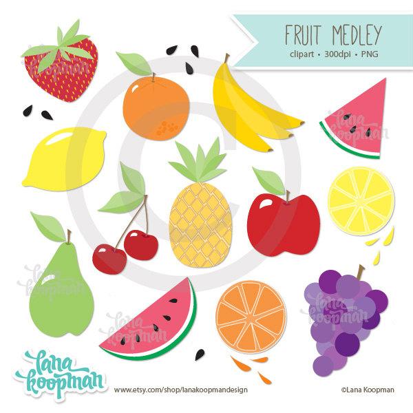 Banana clipart watermelon Apple art Clip Clipart Clipart