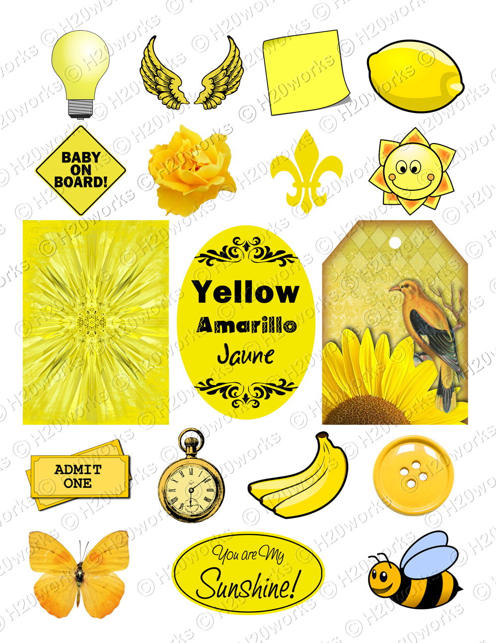 Banana clipart yellow object On Things  Butterfly Stuff