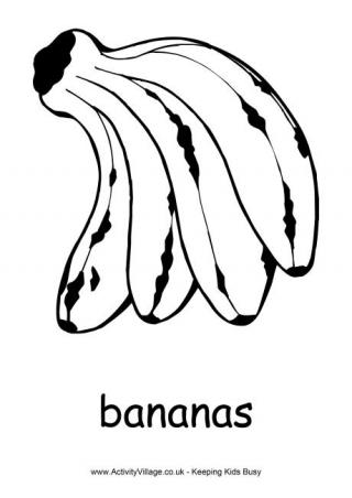Banana Pudding clipart black and white Many coloring Bananas coloring more