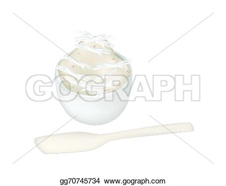 Banana Pudding clipart black and white Made of gluay banana an