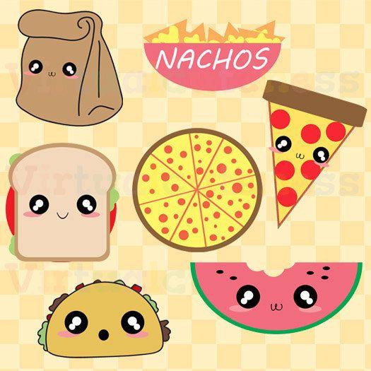 Ice Cube clipart cartoon Art Bag Tacos Kawaii Nachos