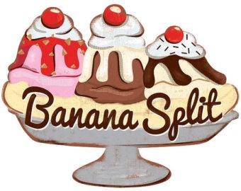 Banana Split clipart Wall Kawaii Split Banana Cream