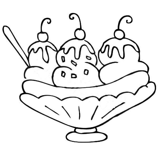 Banana Split clipart bananna Coloring Coloring Page Pages Home