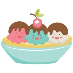 Banana Split clipart cute Happy this NEW  the