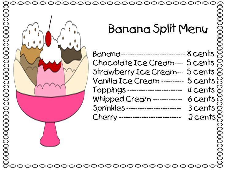 Banana Split clipart huge  The kids on each