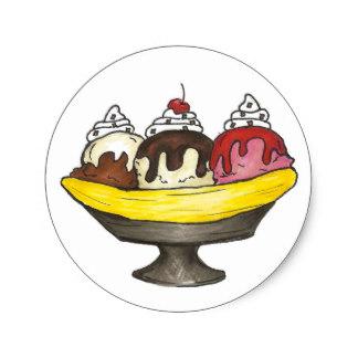 Banana Split clipart ice cream sundae bar Classic Sticker Dessert Sundae Ice