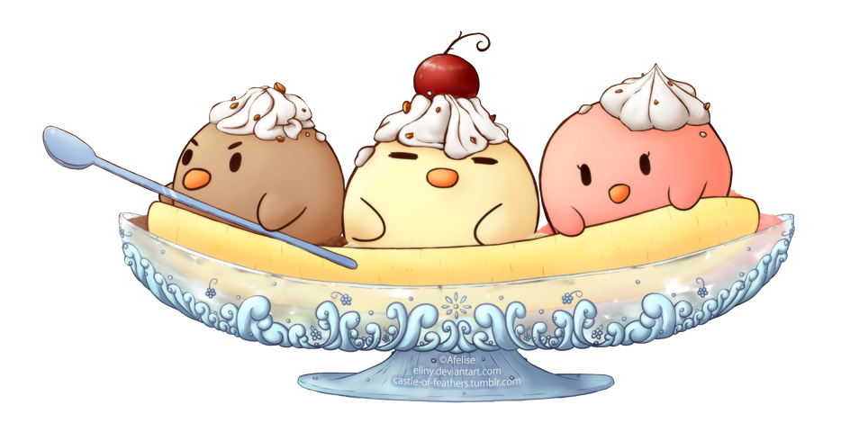 Banana Split clipart traditional  Banana by Split DeviantArt