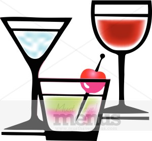 Wine clipart cocktail hour Drink & Graphics Clipart MustHaveMenus