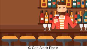 Bar clipart bar counter At Bartender bar Bartender Vector