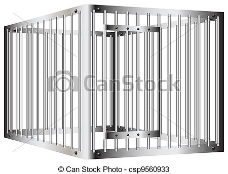 Bar clipart cage Vector Drawings Prison steel with