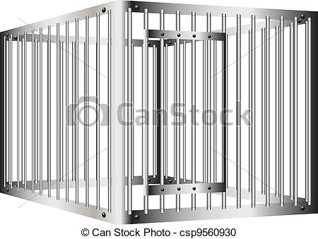Bar clipart cage Door Vector of with bars