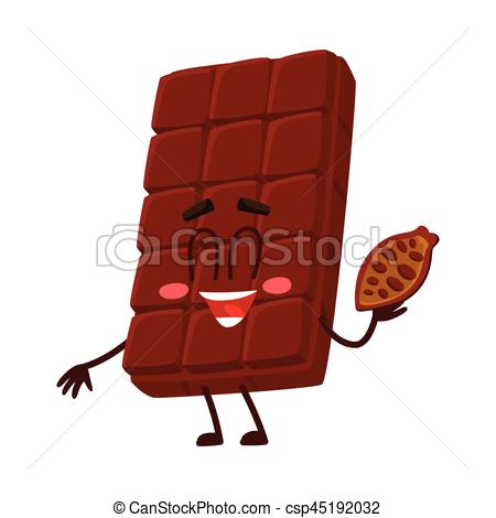 Bar clipart cocoa  with character chocolate bean