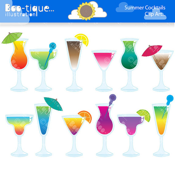 Bar clipart holiday cocktail Cocktail art Clipart Clipart Summer