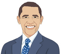 Barack Obama clipart Clipart Results Size: Results obama