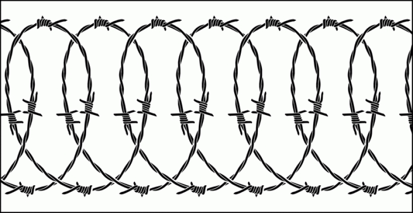 Barbed Wire clipart Barbed Clip Wire Art Digital