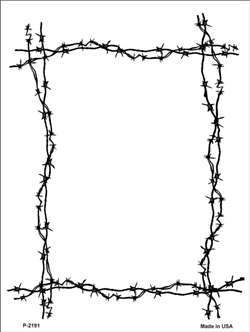 Barb Wire clipart black and white Clipart Border Border Clipart Barbed