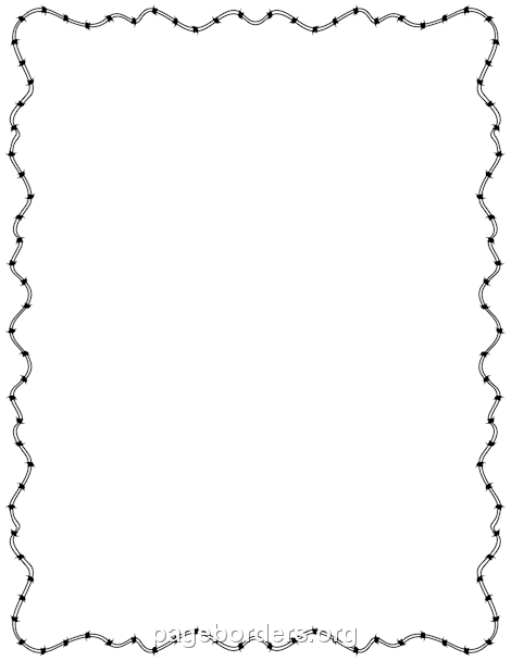 Barb Wire clipart black and white &  Barbed Pinterest Border