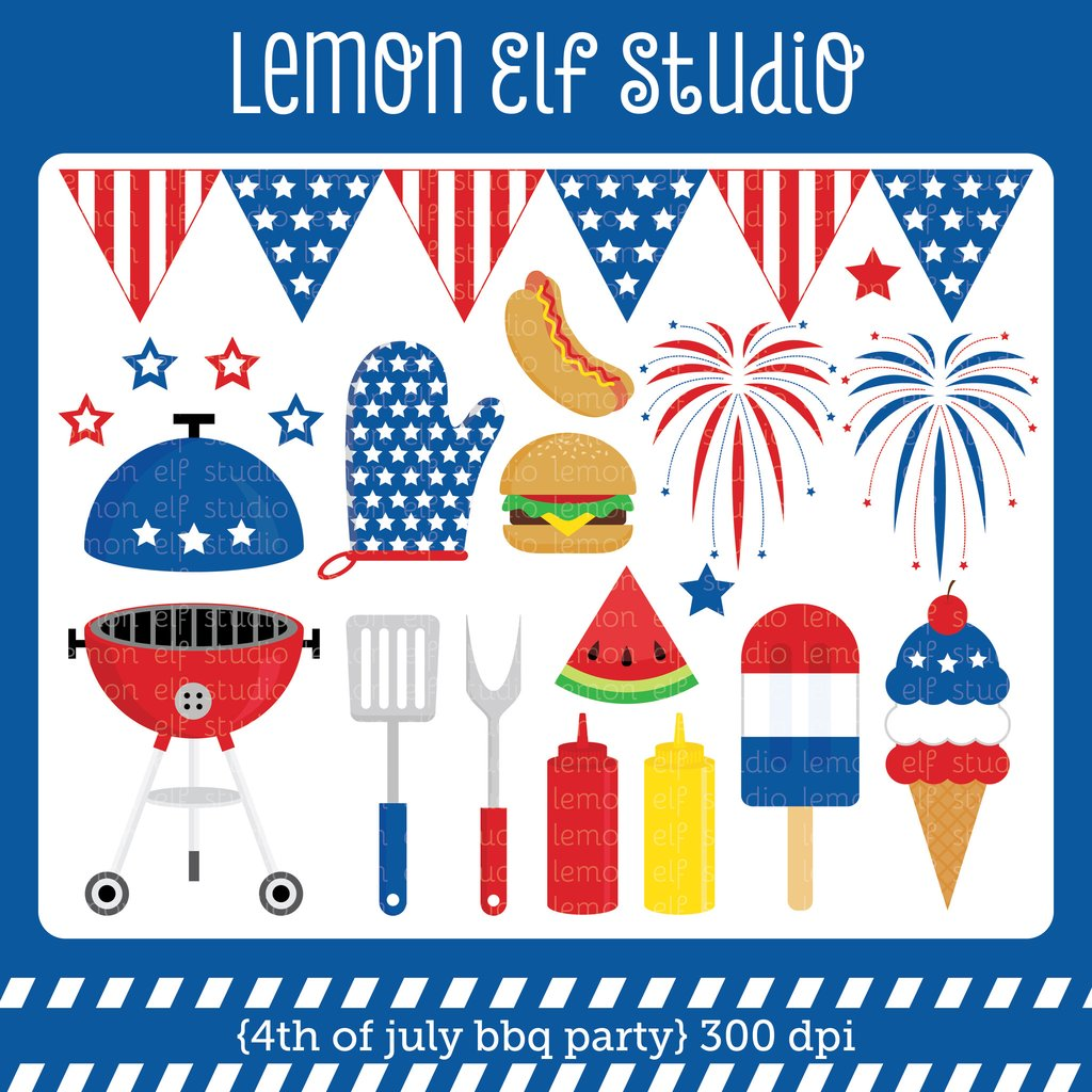 Barbecue clipart 4th july (LES CL40) Cliparts Bbq 4th