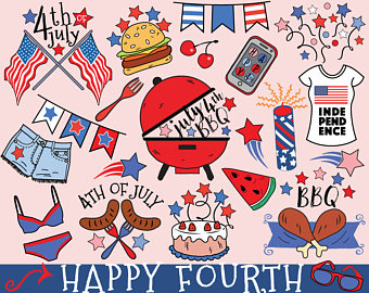 Barbecue clipart 4th july July bbq clipart of summer
