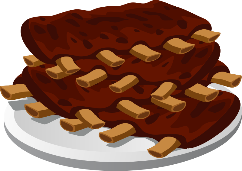 Steak clipart plate food Ribs cliparts Bbq online collection