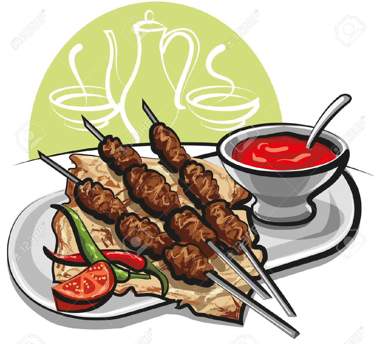 Steak clipart plate food Meat clipart Barbecue meat clipart