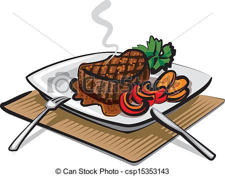 Steak clipart entree Barbecue meat meat clipart clipart