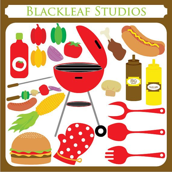 Barbecue clipart barbecue meat Corn ClipArt Barbeque meat mustard