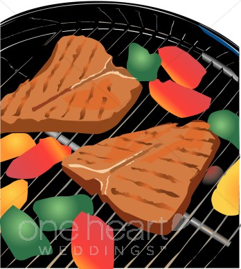 Steak clipart entree Steak Grill collection Wedding clipart