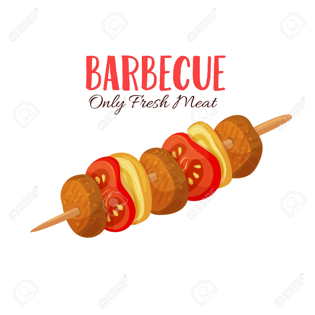 Barbecue clipart barbecue meat Illustration clipart collection meat Vector