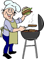 Barbecue clipart bbq chef Backyard Bbq Party Clipart Free