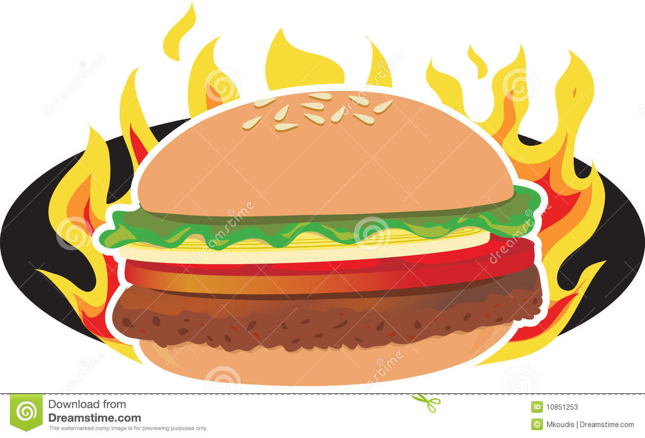 Burger clipart fried chicken Free Clipart Panda Bbq Black