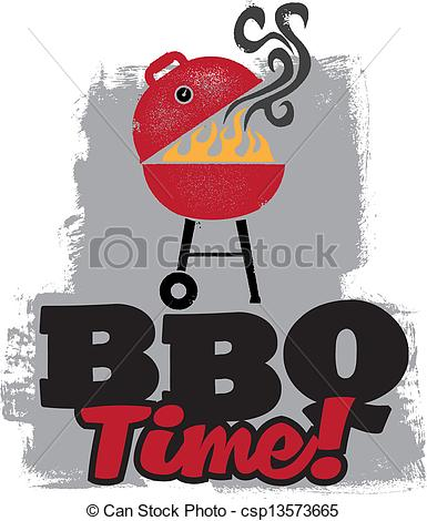 Barbecue clipart bbq party Time Vector out to Grill
