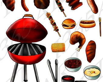 Hot Dog clipart cookout food Bbq 50% Clipart Invitations Clip