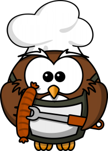 Barbecue clipart bbq sausage Grill With Art Sausage Owl