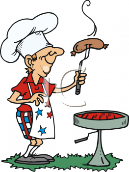 Barbecue clipart bbq sausage A July Cooking BBQ