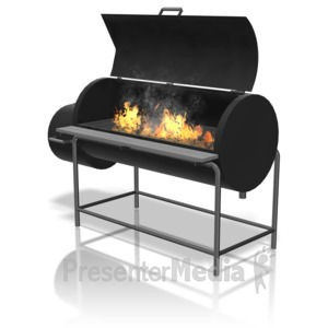 Barbecue clipart bbq smoke ID# grill Presentation flames Clipart