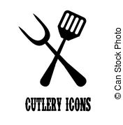 Cutlery clipart vector Illustrations eps10 design tools 1