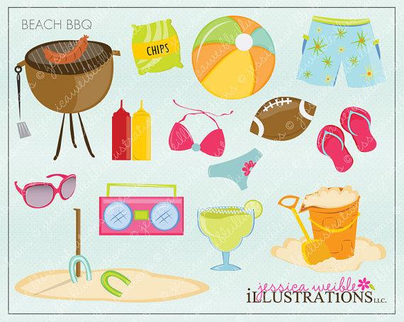 Barbecue clipart beach bbq And Beach Studio Cute Clipart