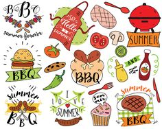 Barbecue clipart beach bbq Clipart summer Clipart Beach vector