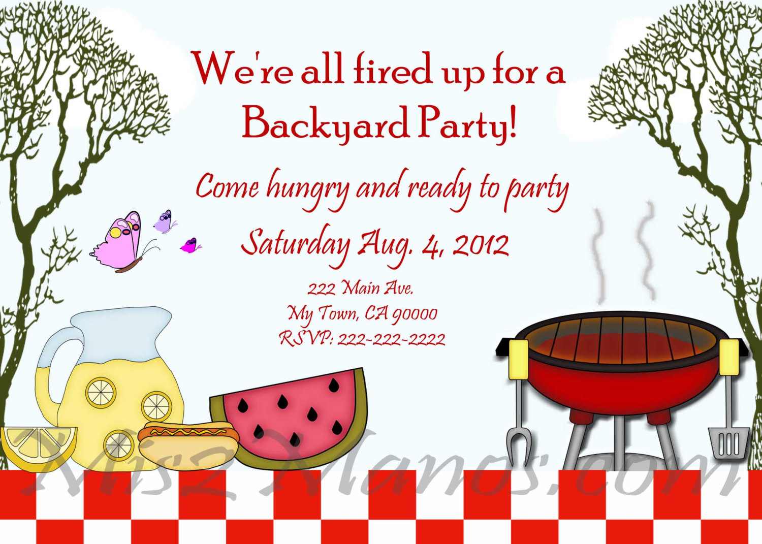Barbecue clipart birthday bbq Barbecue Invitations BBQ Like Printable